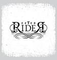 retro rider vector image vector image