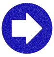 right arrow icon grunge watermark vector image vector image