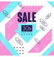 sale banner special offer up to 30 percent off vector image vector image