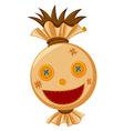 Scarecrow head with big smile vector image vector image
