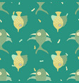 seamless pattern with lovely hand-drawn fishes vector image vector image