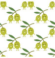 Seamless pattern with olive branch