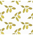 Seamless watercolor pattern with cardamom on the vector image vector image