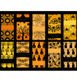 set of 10 Halloween cards vector image