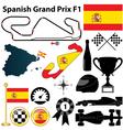 Spanish Grand Prix F1 vector image vector image