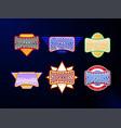 sport emblem typography set super boss hero vector image vector image
