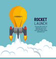 start up launcher bulb rocket vector image