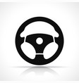 steering wheel black icon vector image