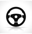 steering wheel black icon vector image vector image