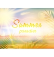 Summer holidays - typographic design template vector image vector image