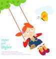 swing fun vector image vector image
