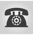 The phone icon Telephone and support hotline vector image