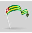 Togolese wavy flag vector image vector image