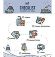 traveling checklist with line color vector image