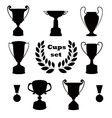 Trophies set of silhouettes vector image