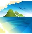 Tropical islands dreams vector image vector image