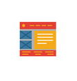 wireframe icon simple element from web vector image vector image