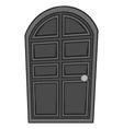 Wooden door icon black monochrome style vector image vector image