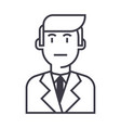 businessman in suit line icon sign vector image