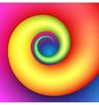 Colorful swirl shape vector image