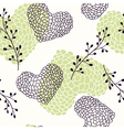 Handdrawn hearts seamless pattern vector image