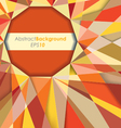 Sun Fractal Abstract Background vector image