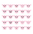 cartoon kawaii emoticons set vector image