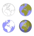 Earth globe set 001 vector image