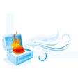 Happy Valentines day burning vector image