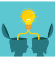 Male and female together make a idea vector image