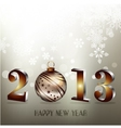 2013 Happy New Year greeting card vector image
