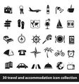 30 travel and accomodation icon collection vector image vector image