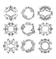a large set of circular design elements vector image vector image