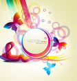 abstract style butterfly vector image