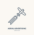 aerial advertising flat line icon outdoor vector image