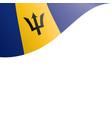 barbados flag on a white vector image