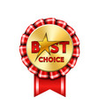 best choice award ribbon sign gold icon isolated vector image vector image