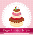 birthday cake 01 vector image vector image