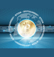 bitcoin simbol with glow vector image