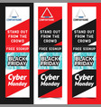 black friday for flyers vector image