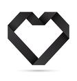 Black heart origami vector image