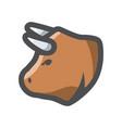 bull head farm animal icon cartoon vector image vector image