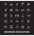 business education editable line icons set vector image vector image