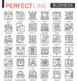 business outline mini concept symbols finance vector image