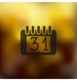 calendar icon on blurred background vector image