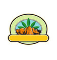 canyon with hemp banner oval retro vector image vector image
