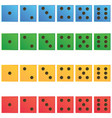 casino dice set of authentic icons vector image