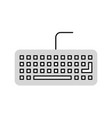 computer keyboard isolated icon vector image vector image