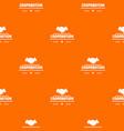 cooperation pattern orange vector image vector image