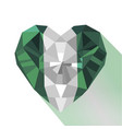 crystal flag of nigeria vector image
